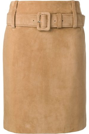 Prada Leather straight skirt - Nude