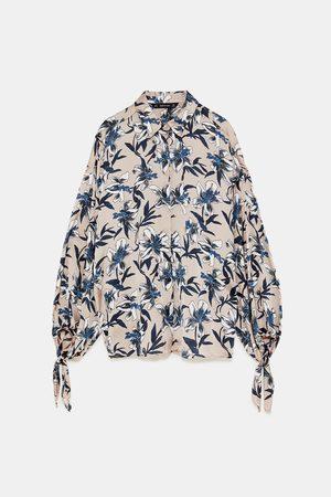 Zara Shirts - FLORAL PRINT SHIRT WITH TIES