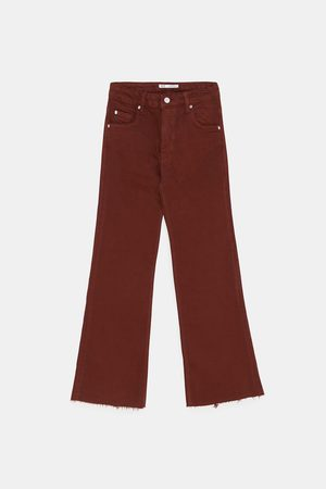 Zara Bootcut - CROPPED-JEANS IM FLARE-FIT
