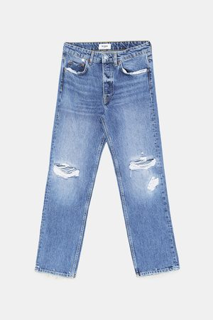 Zara MID-RISE-JEANS – STRAIGHT DAMAGES