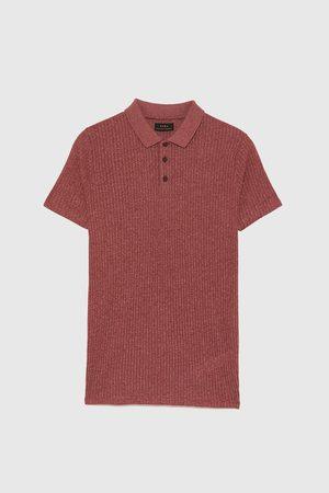 Zara Poloshirts - MUSCLE-FIT-POLOSHIRT AUS RIPPENSTRICK