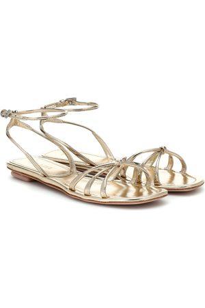 Prada Sandalen aus Metallic-Leder