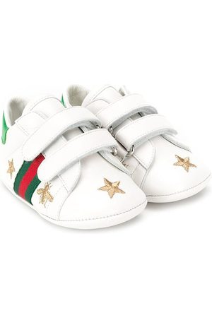 Gucci Bee and star embroidered sneakers