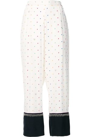 Stella McCartney Printed studded trousers