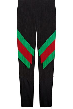 Gucci Nylon legging with Web intarsia