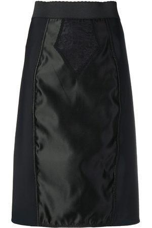 Dolce & Gabbana Rock mit Satineinsatz