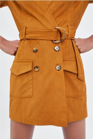 Zara Overall-kleid aus wildlederimitat