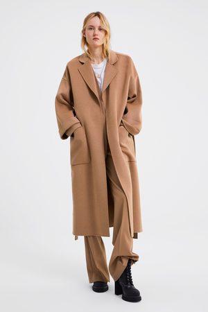 ZARA Mantel Damen Jacke Parka Gr. INT XL Baumwolle beige