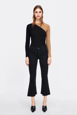 Zara Damen Bootcut - Jeans z1975 hose mit kleinem schlag