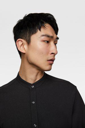 Zara Herren Hemden - Pikee-hemd mit stehkragen