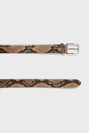 Zara Herren Gürtel - Gürtel mit schlangenhautmuster