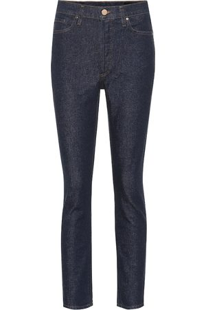 Goldsign High-Rise Slim Straight Jeans