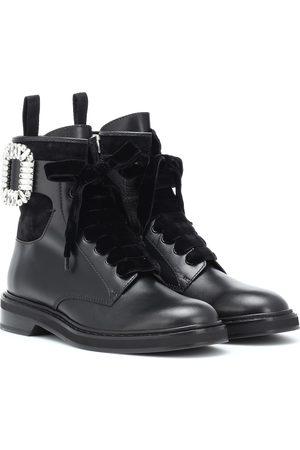 Roger Vivier Ankle Boots Viv' Rangers Strass