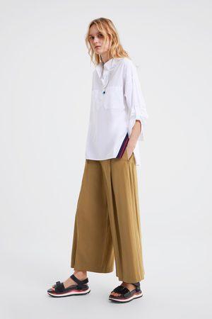 Zara Oversize-bluse mit taschen