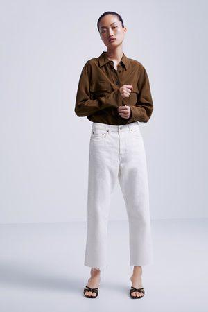 Zara Straight-fit-jeans zw premium im cropped-schnitt