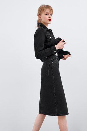 Zara Midi-jeansrock