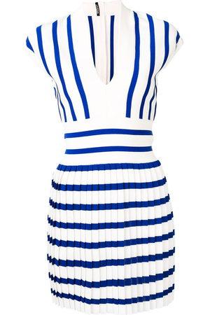 Balmain Pleated knit dress