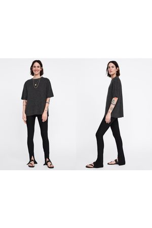 Zara Weiches shirt mit strukturmuster