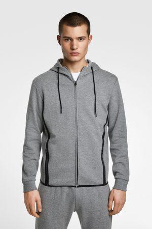 Zara Herren Sweatshirts - Sweatshirt mit streifen