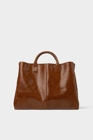 Zara Herren Shopper - Eleganter shopper in braun