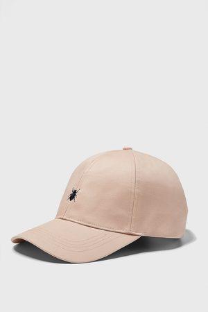 Zara Herren Caps - Baseballcap mit insekten-stickerei