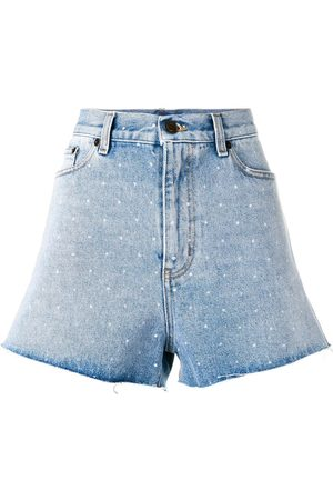 Saint Laurent Damen Shorts - Spotted back denim shorts