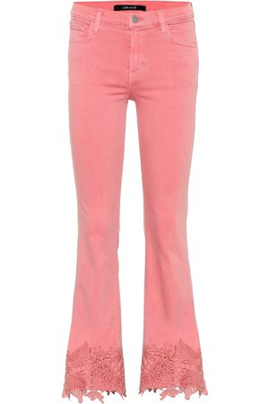 J Brand Mid-Rise Cropped Jeans Selena