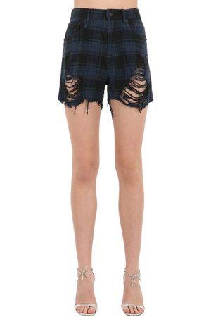 R13 Damen Shorts - Shorts Aus Baumwolldenim
