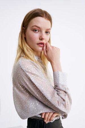 Zara Hemd mit glitzerdetails
