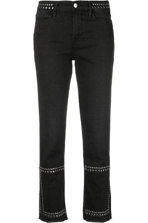 Frame Studded straight-leg jeans