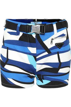 Prada Bedruckte Shorts aus Twill