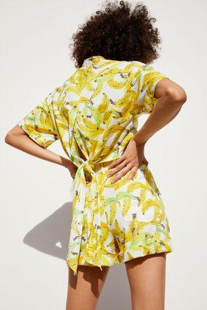 Zara Bermudashorts mit bananenprint
