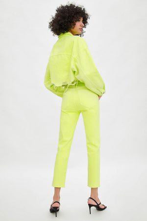 Zara Farbige hi-rise-jeans im slim-fit
