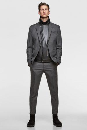 Zara Anzughose mit strukturmuster im cropped-schnitt