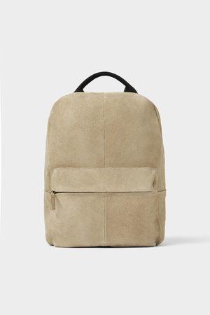 Zara Herren Rucksäcke - Soft leather backpack