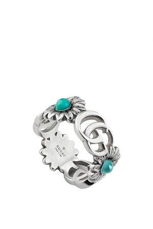 Gucci Ring mit GG-Logo - Metallisch