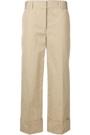 Prada Damen Weite Hosen - Hose mit weitem Bein - Nude