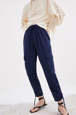Zara Cargohose aus festem stoff