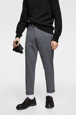 Zara Karierte hose – comfort knit