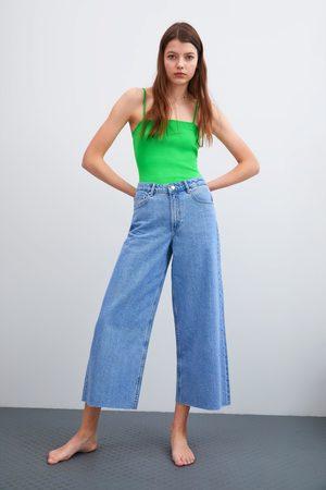 Zara Culotte-jeans mit mittelhohem bund
