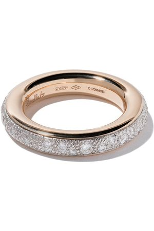 Pomellato 18kt 'Iconica' Rotgoldring mit Diamanten - WHITE