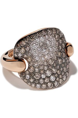 Pomellato 18kt 'Sabbia' Rotgoldring mit Diamanten - AB607BO7BR Brown