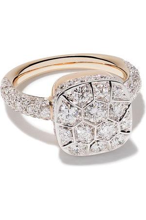 Pomellato 18kt 'Nudo' Rot- und Weißgoldring mit Diamant - AB704GO6B9 White