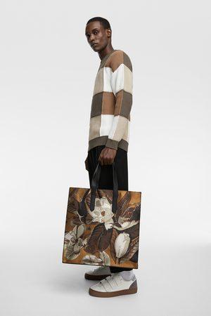 Zara Shopper mit blumenmuster