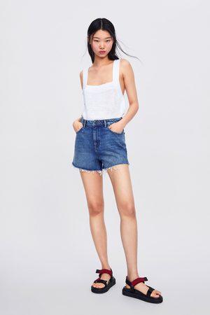 Zara High-waist-shorts in soma blue