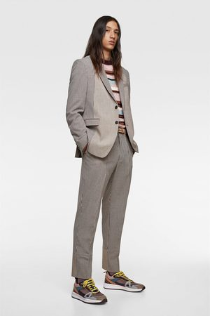 Zara Anzughose in patchwork-optik