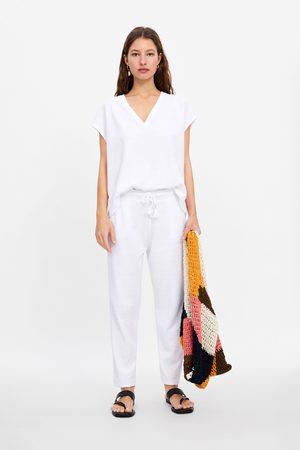 Zara Shirt mit v-ausschnitt