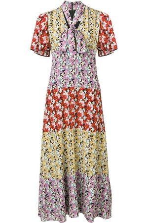 VALENTINO Kleid mit Blumen-Print - Lila