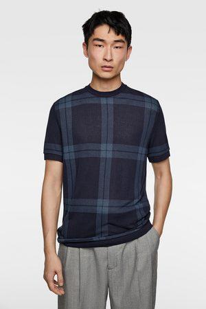 Zara Strukturierter pullover mit streifen