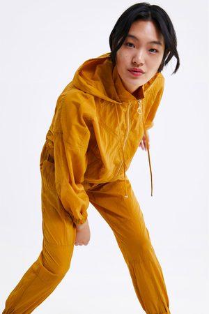 Zara Jogginghose mit knitter-effekt